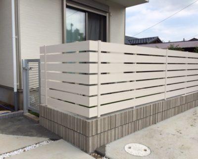 千葉県佐倉市 O様邸のお庭リフォーム|ウッドフェンスの施工例