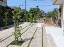 千葉県香取郡横芝光町 S様邸のお庭 雑草対策を施したローメンテナンスの造園リフォーム 施工事例