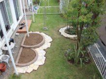 佐倉市宮ノ台にお住いのお客様のお庭 天然石と爽やかな植栽が彩るシンプルな造園リフォーム