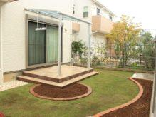 個性的でナチュラルなオンリーワンテラス 千葉県佐倉市にお住いのT様邸のお庭を外構リフォーム