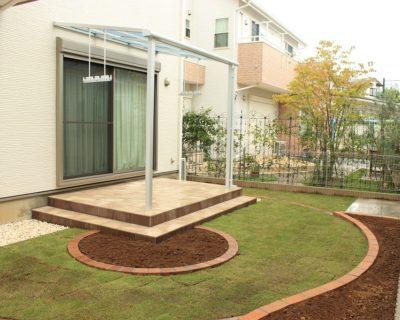 個性的でナチュラルなオンリーワンテラス|千葉県佐倉市にお住いのT様邸のお庭を外構リフォーム