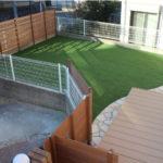 ワンちゃんも楽しめるローメンテナンスのお庭造り|千葉県八千代市にてお庭の外構リフォーム