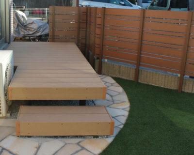 ワンちゃんも楽しめるローメンテナンスのお庭造り 千葉県八千代市にてお庭の外構リフォーム