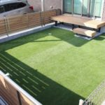 千葉県四街道市のS様邸にてシンプルモダンでメンテナンスフリーな庭づくり