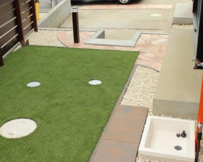 駐車場を子どもが遊べるお庭へリフォーム|千葉県印西市にて外構工事